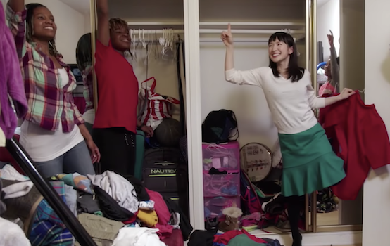 Screenshot from Tidying Up with Marie Kondo (Netflix)
